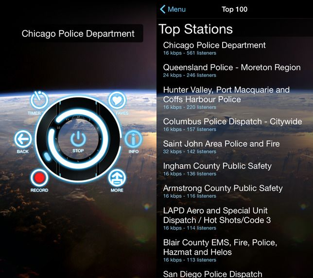 Police Scanner keeps an open line to emergency
