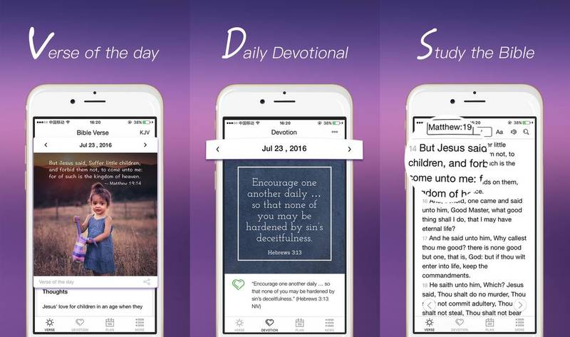 Daily Bible verse app with devotions and reading plans