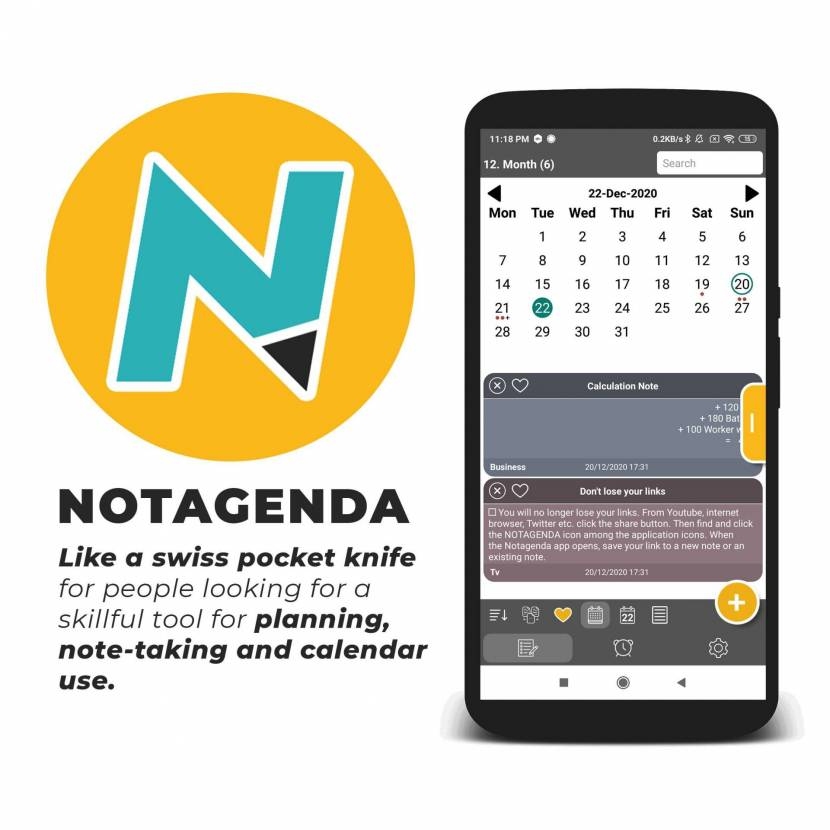 Notagenda app