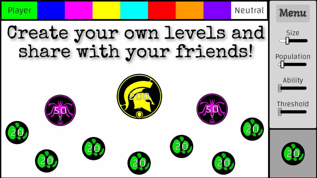 Create Your Own Levels and Share with Your Friends!