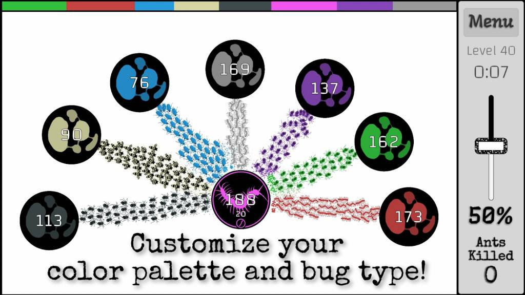 Customize Your Color Palette and Bug Type!