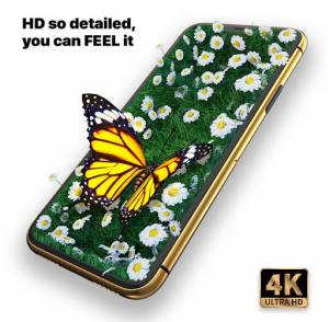 Live wallpapers are able to create a depth effect that, combined with HD graphics, lends a realistic feel to the screen aesthetics.